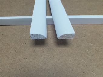 Quarter Round Coated Wood Moulding